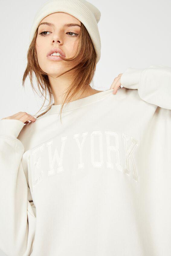 Oversized Graphic Crew, IVORY/NEW YORK