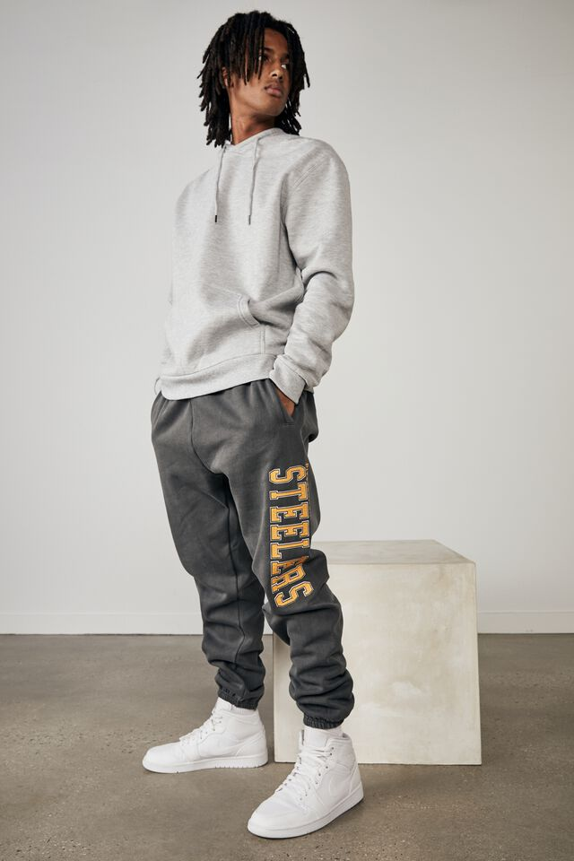 Relaxed Nfl Trackpant, LCN NFL WASHED BLACK/STEELERS