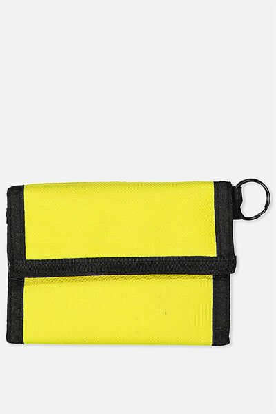 Velcro Wallet, NEON ORANGE_BLK