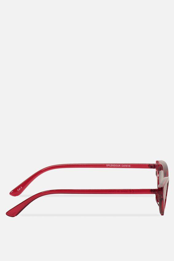 Splendour Cateye Sunglasses, S CRY B'BERRY_GRAD SMK