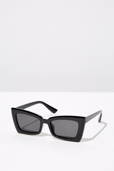 Angular Rec Sunglasses, S BLK_BLK