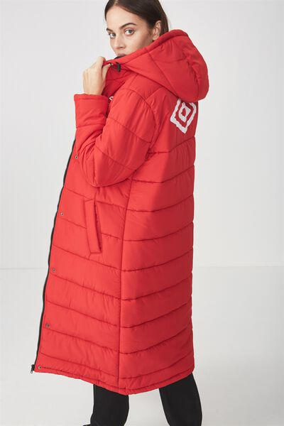 Umbro Lcn Longlength Puffer, RED
