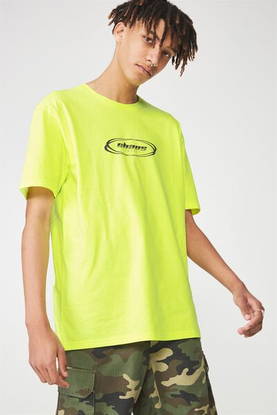 Ss Graphic T Shirt, HAZARD YELLOW/CHAOS