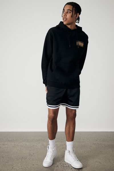 Oversized Pop Culture Hoodie, LCN PAD BLACK/PARENTAL ADVISORY GOLD