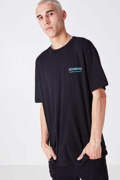 Scorpio Horoscope T Shirt, BLACK/BLUE