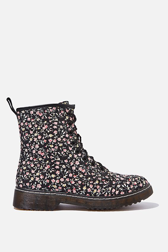 Combat Boot, BLACK DITSY