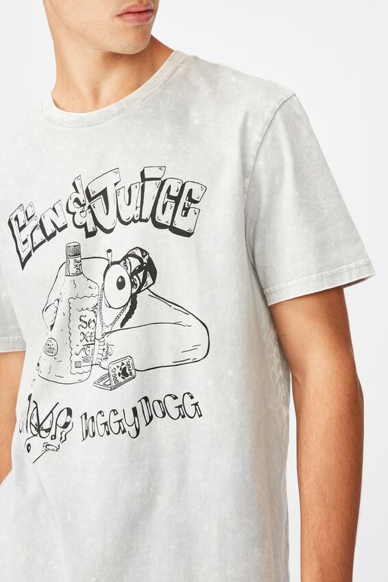 Regular License T Shirt, MARBLE GREY/GIN AND JUICE