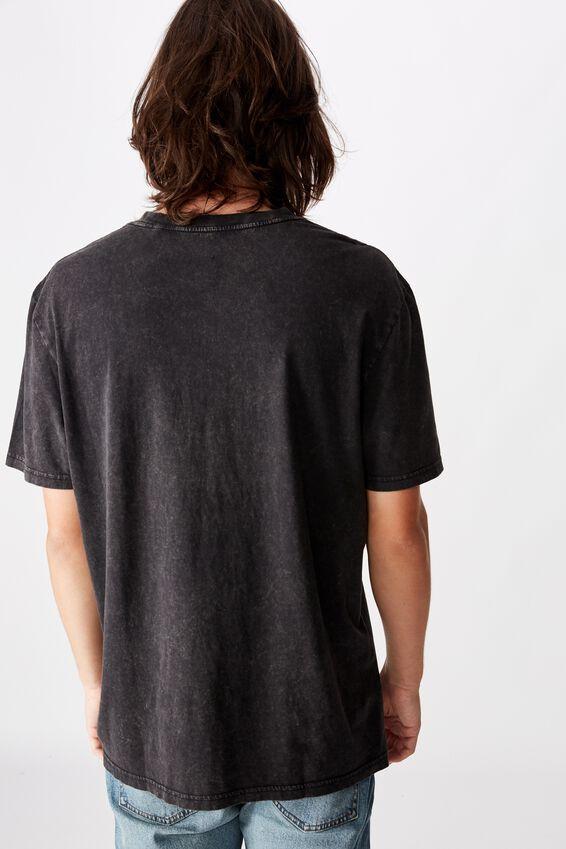 Regular Graphic T Shirt, WASHED BLACK SPEED TRIALS