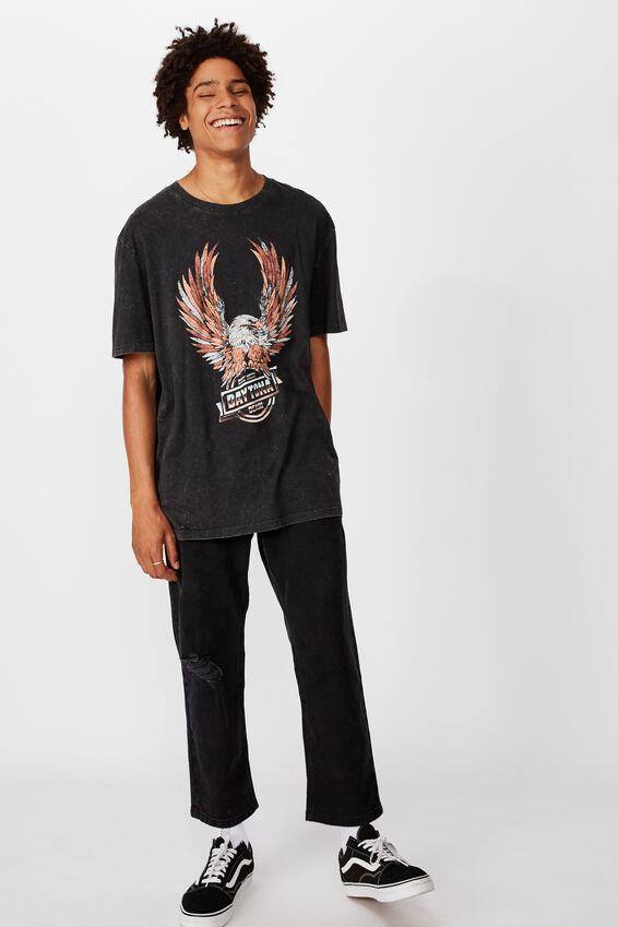Regular Graphic T Shirt, WASHED BLACK/DAYTONA BEACH