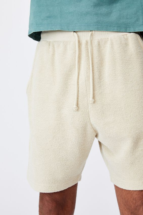 Reverse Fleece Track Short, WASHED SAND