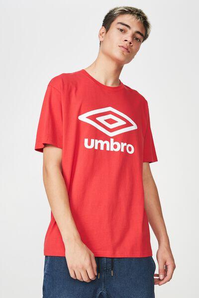 Umbro Lcn Logo T Shirt, LYCHEE