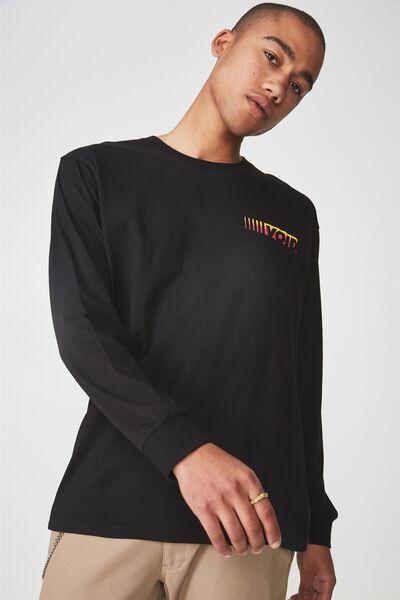 Ls Graphic T Shirt, BLACK/VOID LINE