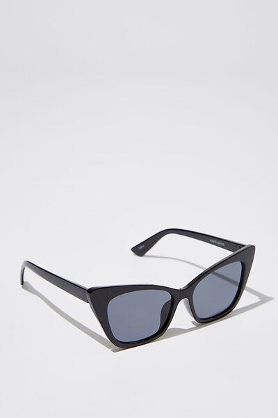 Kenzie Cateye Sunglasses, S.BLK_SMK