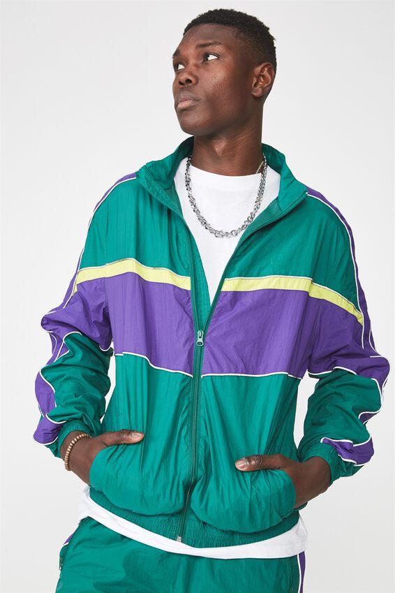 Shell Zip Through Jacket, EVERGREEN GREEN