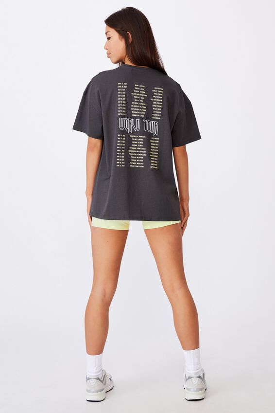 Super Relaxed Graphic Tee, WASHED ASPHALT/TEMTATION WORLD TOUR