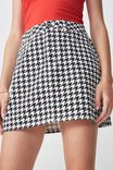 Co-Ord Denim Skirt, HOUNDSTOOTH