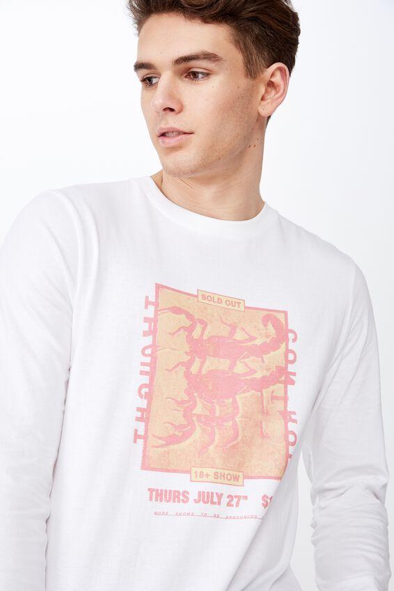 Slim Long Sleeve Graphic T Shirt, WHITE/CONTROL