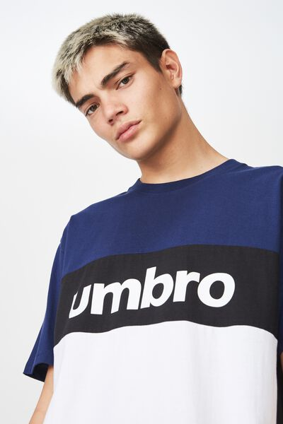 Umbro Lcn Splice T Shirt, WASHED NAVY/BLACK/WHITE