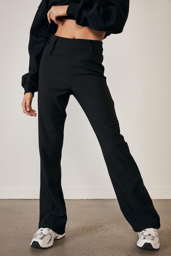 High Waisted Flare Pant, BLACK