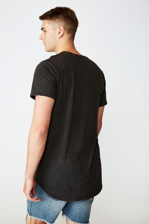 Curved Graphic T Shirt, WASHED BLACK/SAINTS AND SINNERS