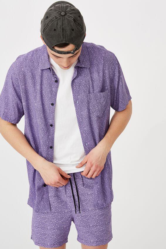 Resort Shirt, PURPLE NOISE
