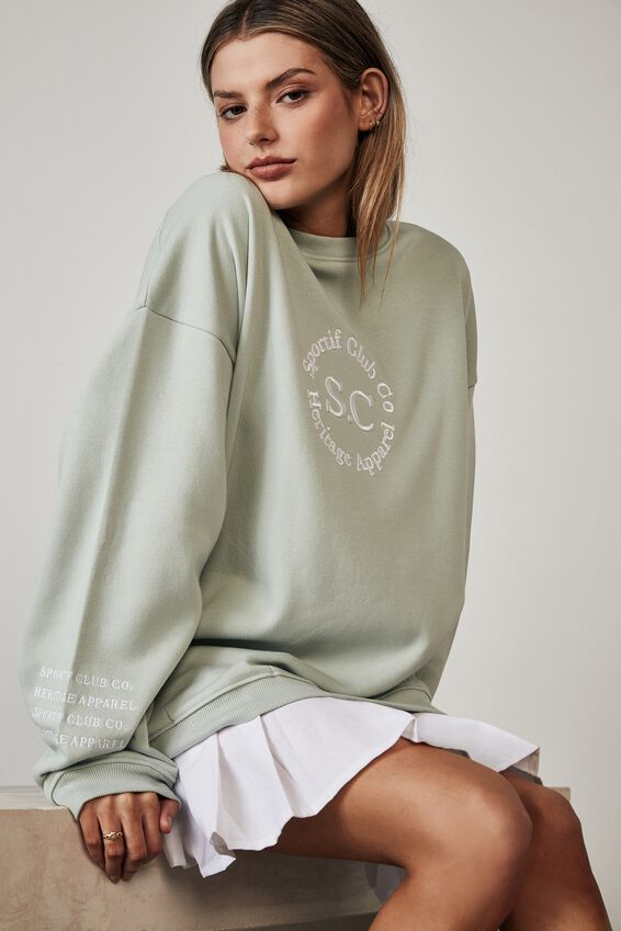 Oversized Graphic Crew, ETHER/SPORTIF CLUB CO