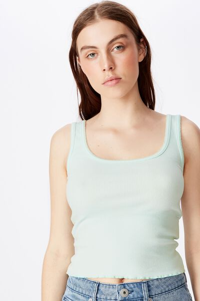 Picot Trim Detail Tank, SOOTHING SEA