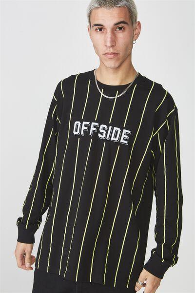 Ls Graphic T Shirt, BLACK/OFFSIDE VERTICAL STRIPE