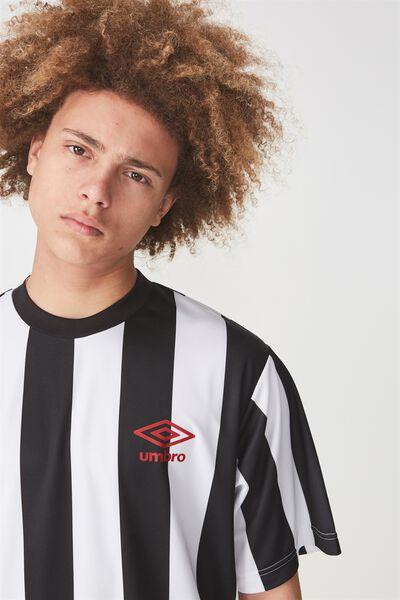 Umbro Lcn Ss Soccer Crew, UMBRO BLACK STRIPE