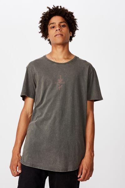 Curved Graphic T Shirt, WASHED ASPHALT/ALCHEMY ROSE