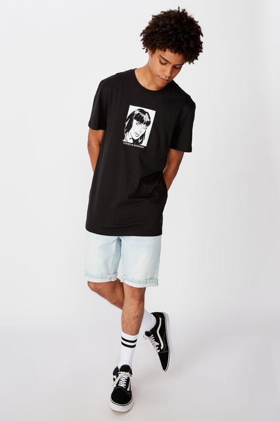 Slim Graphic T Shirt, BLACK/TEARS