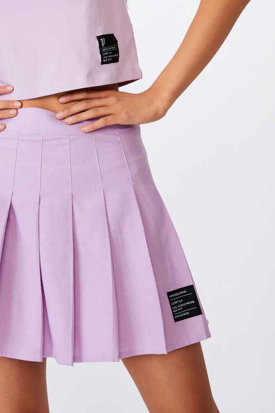Pleated Skirt, ORCHID BLOOM