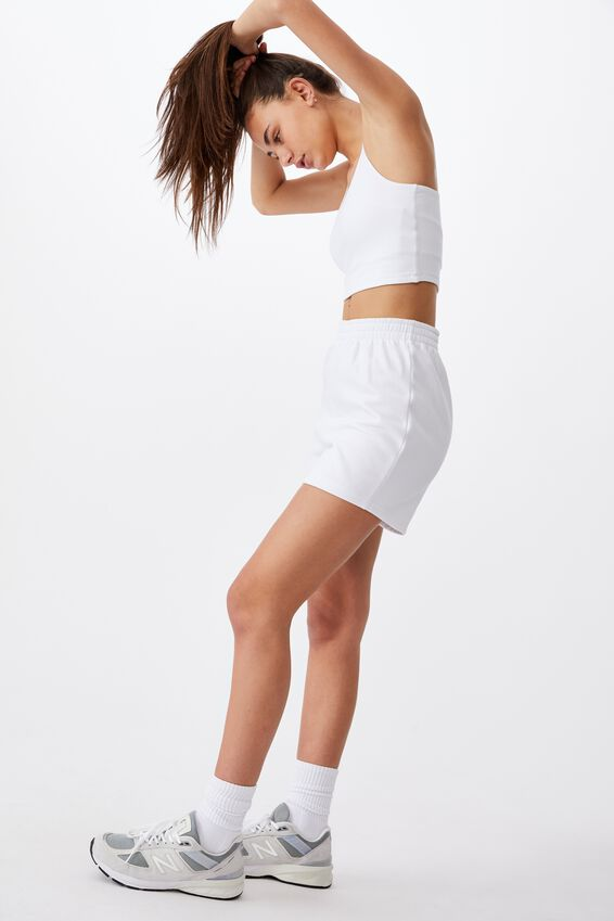 Hype Fleece Short, WHITE