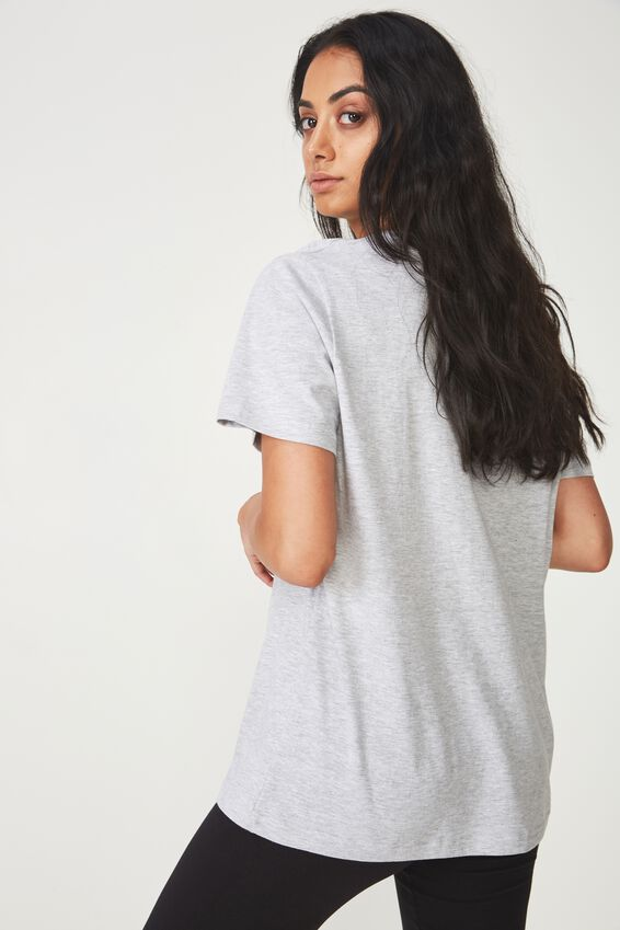 Relaxed Graphic T Shirt, GREY MARLE_BABY GIRL