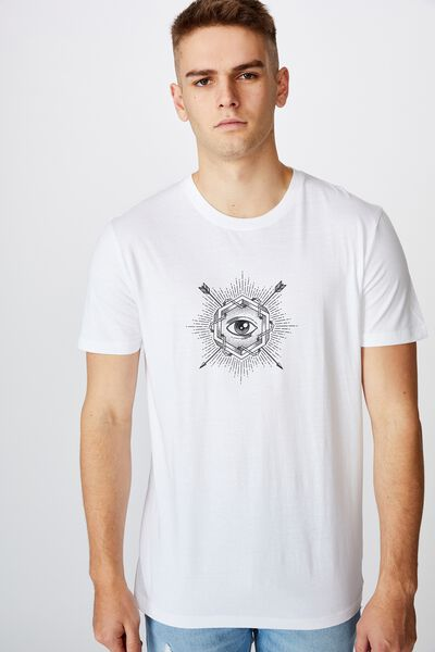 Slim Graphic T Shirt, WHITE/BULLSEYE