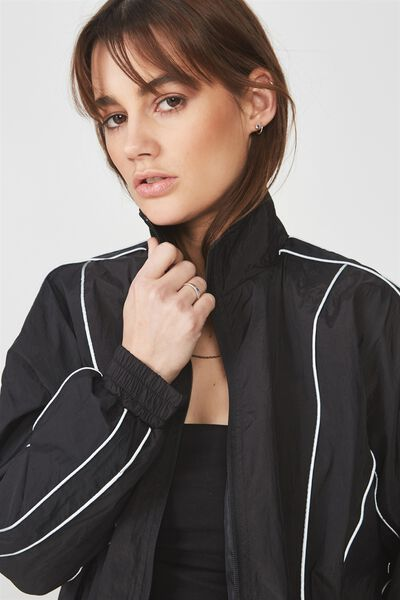 Shell Tracksuit Jacket, BLACK_NEON BIND