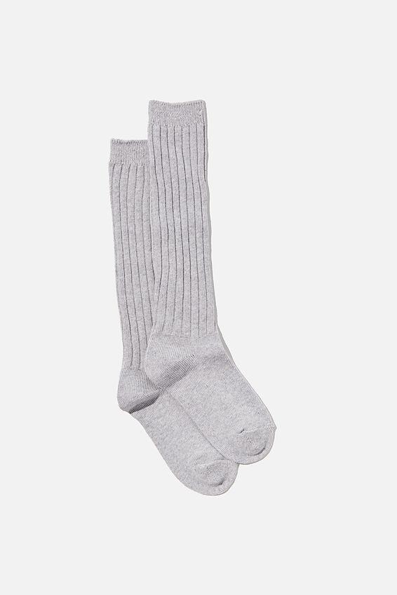 Slouchy Sock, GREY MARLE