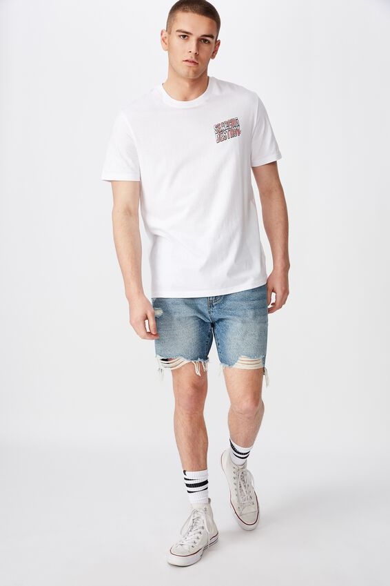 Regular Graphic T Shirt, WHITE/SEARCH
