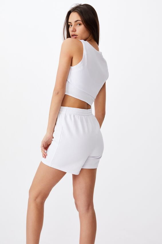 Layered Cut Out Tank, WHITE