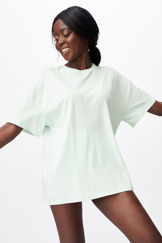 Super Relaxed Graphic Tee, CELEDON/ENERGY AWARENESS