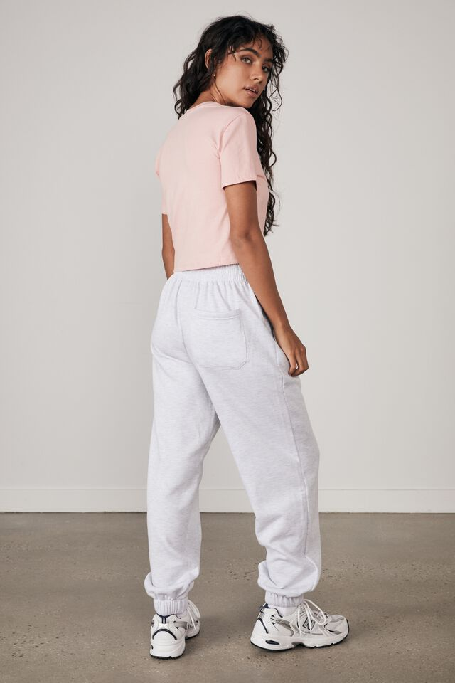 Super Slouchy Trackpant, SILVER MARLE