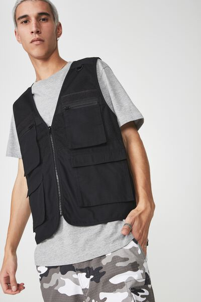 Utility Vest, BLACK
