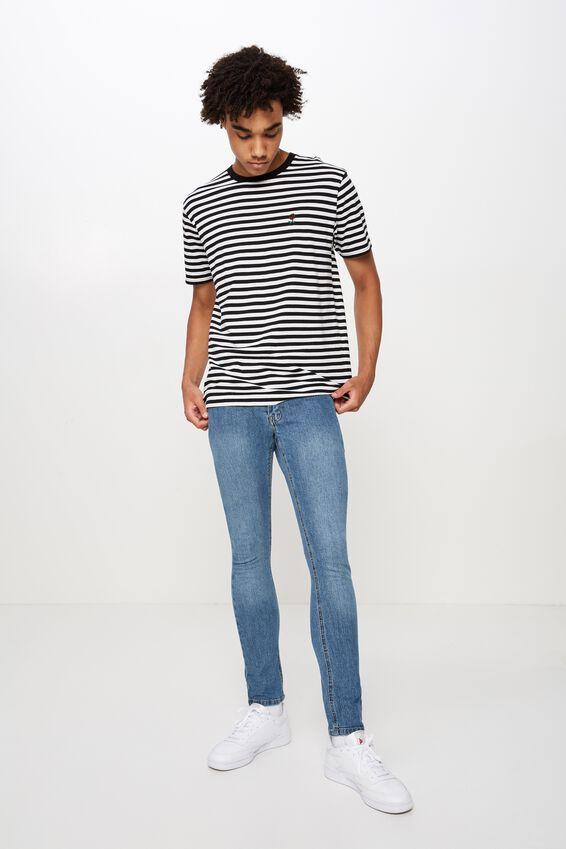Skinny Leg Denim Jean, VINTAGE BLUE