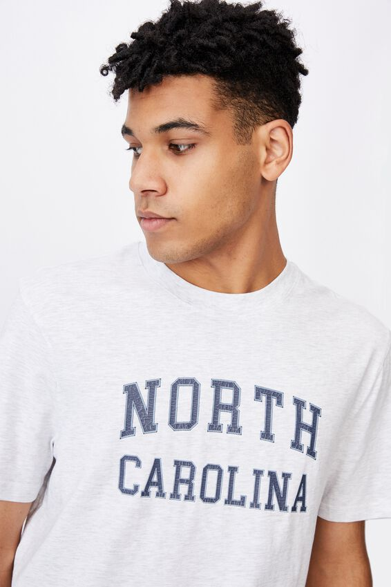 Regular Graphic T Shirt, SILVER MARLE/NORTH CAROLINA