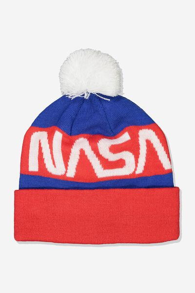 Lcn Nasa Beanie, BLUE_RED
