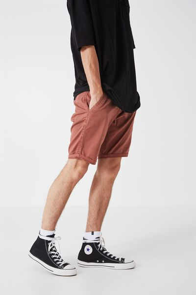 Dyed Chino Short, RED CLAY
