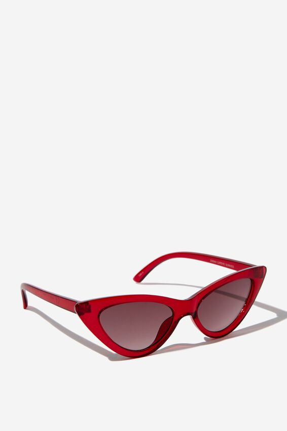 Zarah Cateye Sunglasses, S CRY B'BERRY_GRAD SMK