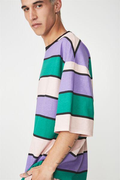 Bold Stripe T Shirt, PINK/PURPLE/GREEN MULTI STRIPE