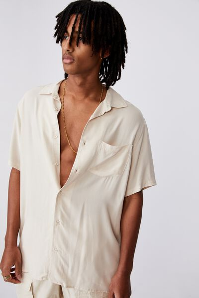 Resort Shirt, BEIGE