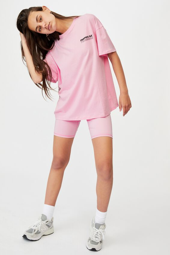 Super Relaxed Graphic Tee, BABE PINKIMPULSE TRIGGERS